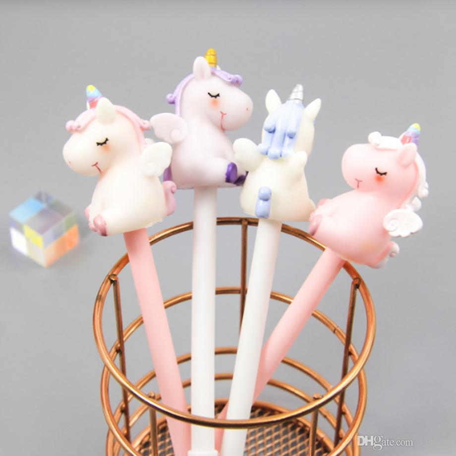 New arrivals Cute unicorn Gel Pen Pink Horse black Neutral pen gel ink Kawaii Stationery Pens Office School Supplies writing Student Gift