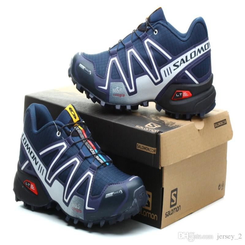 7e175a75ebf5 Salomon Speed Cross 3 CS III Deep Blue White Men Outdoor Crosspeed 3  Running Shoes Sneakers Men Shoes On Sale Shoes Sports From Jersey 2