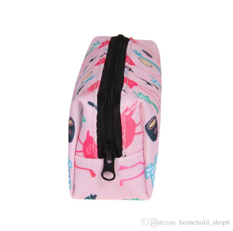 NEW Kawaii Pencil Case bag girl Flamingos canvas School Supplies Bts Stationery Gift Estuches School Cute Pencil Box Pen Bag 2018
