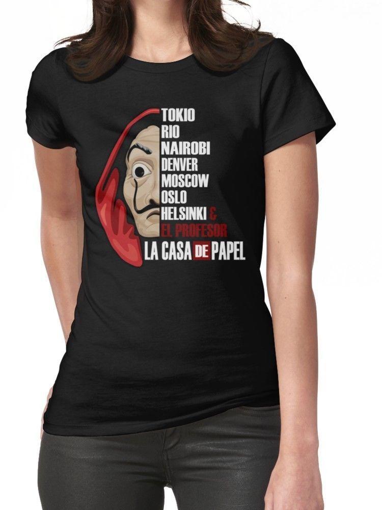 Ropa Papel De Camisetas Negra La Mujer Casa rxCthdsQ