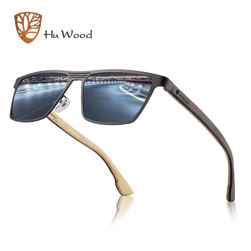 c8e1d245f0 Compre Hu Gafas De Sol De Madera Para Hombre Gafas De Sol Polarizadas Mujer  Gafas De Madera Estilo Vintage Marco De Acero Inoxidable Gafas De Sol  Masculino ...