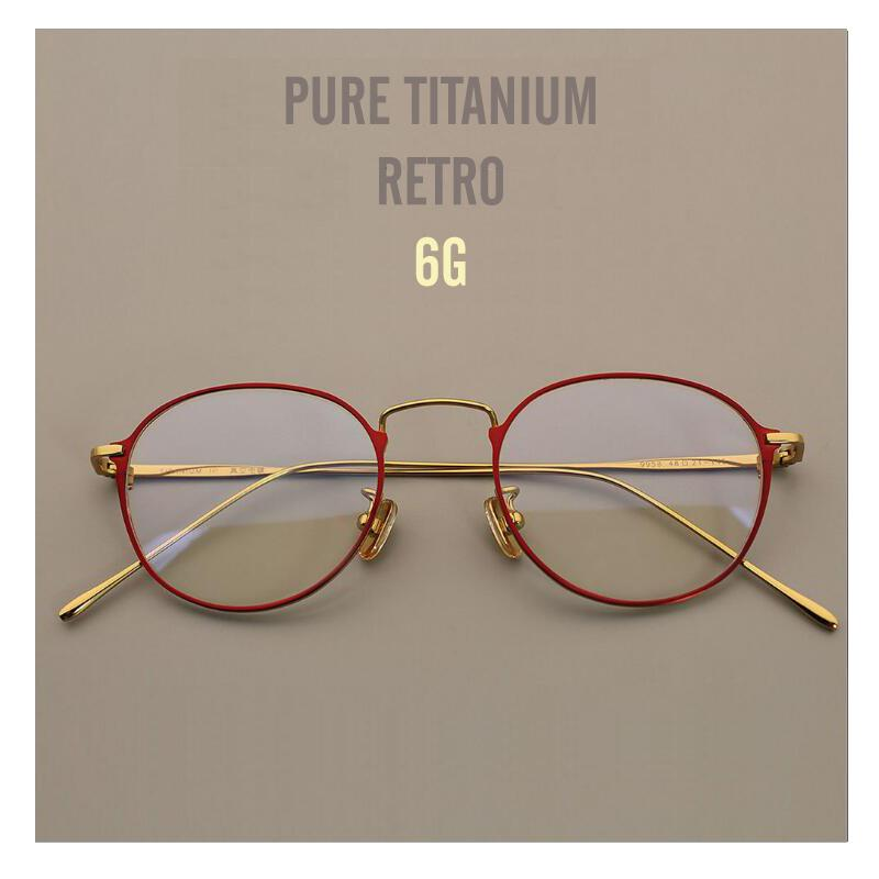a545164a01fa 2019 MUZZ Pure Titanium Round Eyeglasses Frame Optical Frames Unisex Glasses  Retro Eyeglasses Prescription Super Light Myopia Frames From Shuidianba, ...
