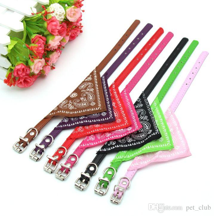 Pet Dog Collar Puppy Cat Neck Scarf Bandana Neckerchief Collar Adjustable Lovely Fashion Triangle collar Mix colors cat