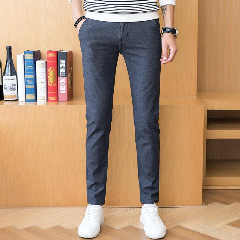 4319a353443 2019 Pure Color Men S Trousers Size 28 38 Fashion Business Casual Men Pant  Slim Comfortable And Elegant From Lorsoul