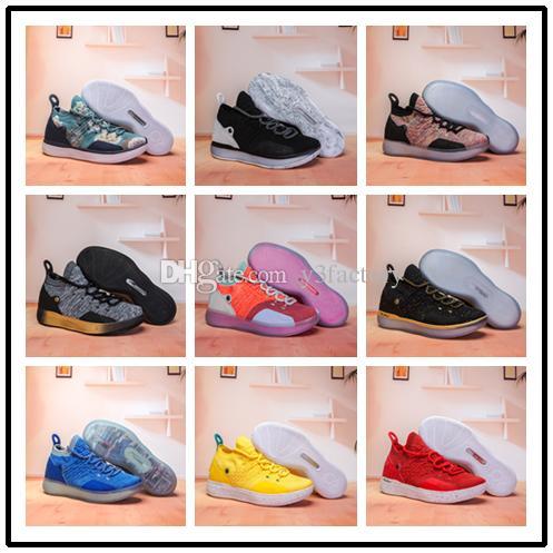new style 6f85c 00bfc Compre 2018 Kevin Durant 11 Zapatos De Baloncesto Venta Al Por Mayor 11S  Entrenamiento KD EP Elite Entrenador Zapatillas De Deporte Hombres  Deportivos ...