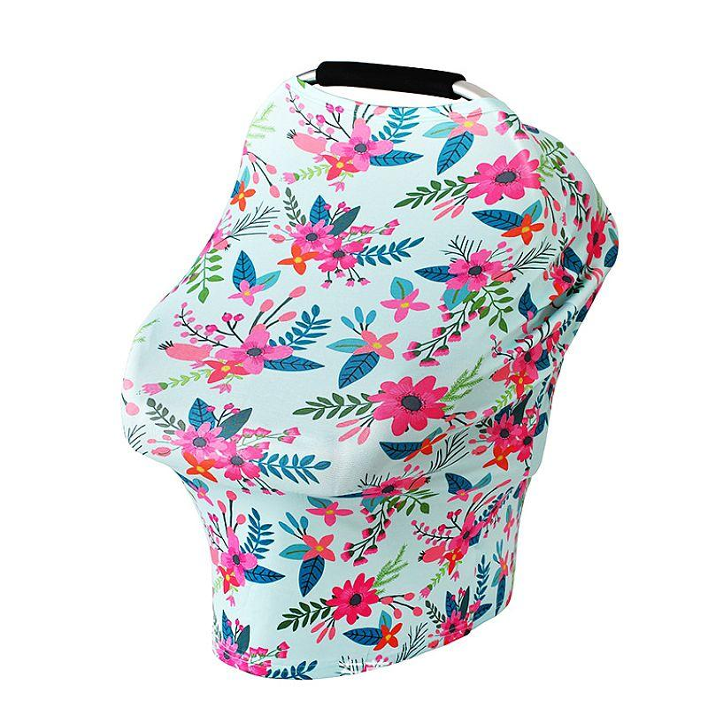 Baby Car Seat Cover Canopy Nursing Cover Multi-Use Baby Feeding Infant Breastfeeding Scarf Windproof Shopping Cart