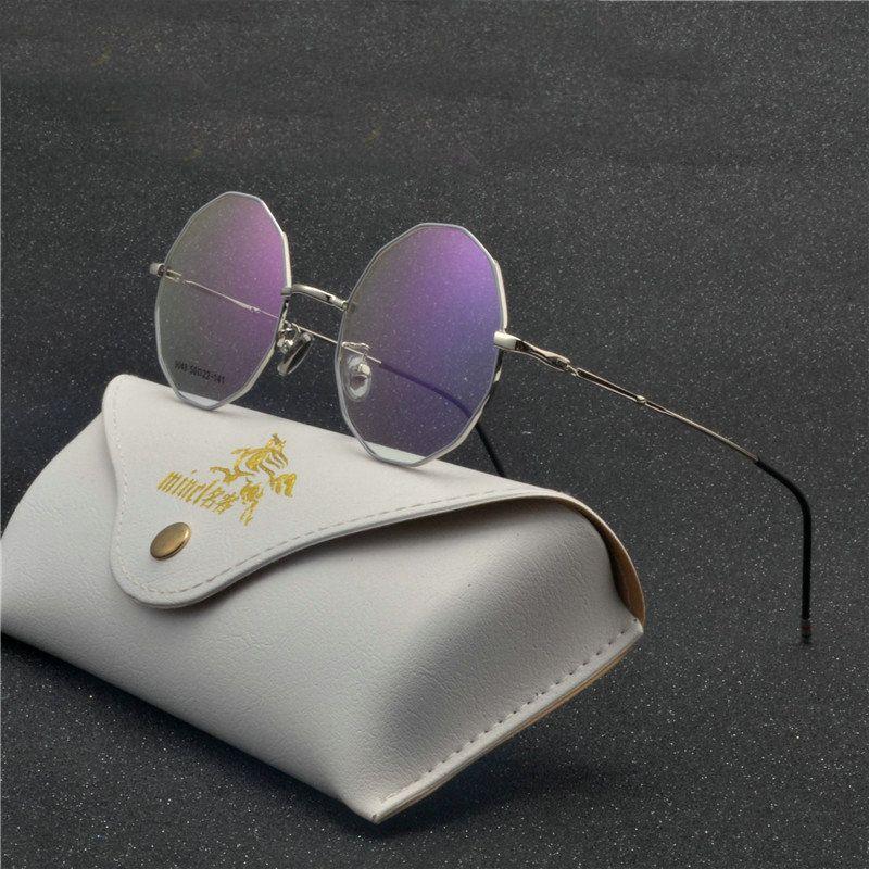 4dba5cd853a 2018 New Retro Round Antique Glasses Frames Male Full Frame Metal Gray  Clear Lens Frames for Women Optical Glasses UV FML Eyewear Frames Cheap  Eyewear ...