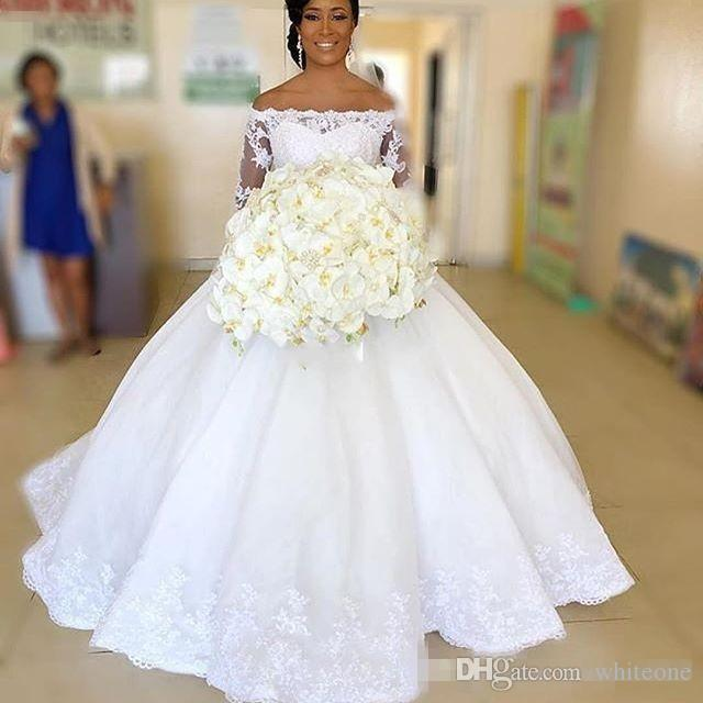 Wedding Gowns South Africa: Discount 2018 Lace Ball Gown Wedding Dresses Bridal Gowns