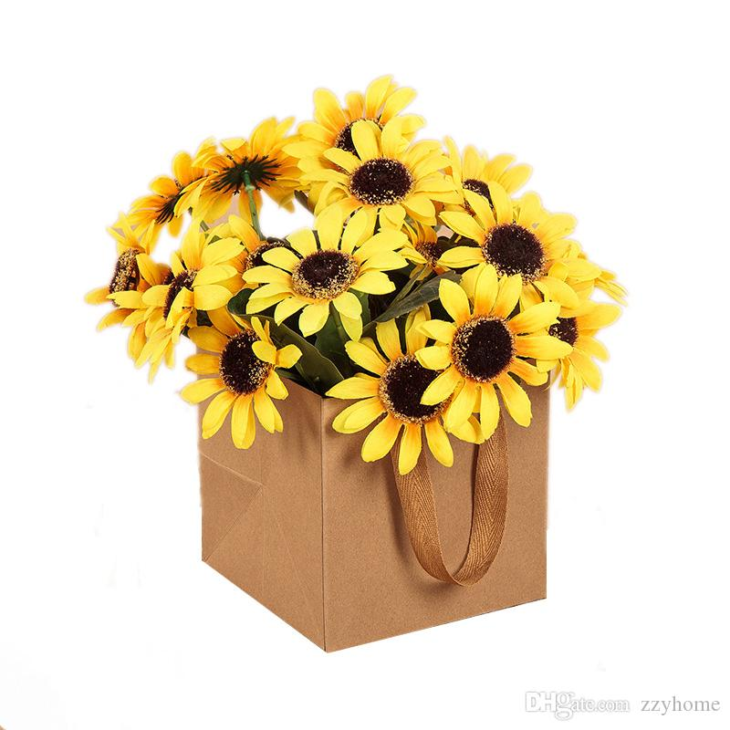 Brown kraft flowers paper packing bags square paper bag with handle brown kraft flowers paper packing bags square paper bag with handle flowers packing bag in stock paper bag gift bag flowers packing bag online with mightylinksfo