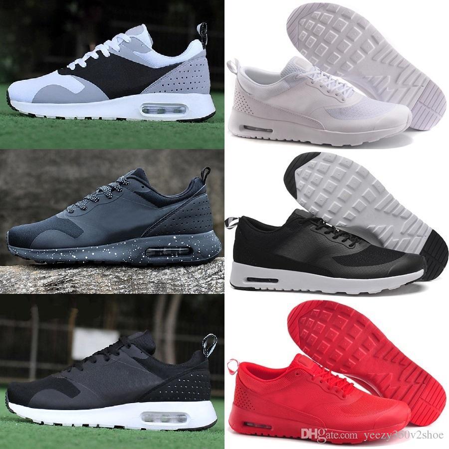 pretty nice e886d 7f1a9 Acheter 2018 Nike Air Max Airmax 90 Tavas Print Thea 87 Tech Polaire Laine  Métallique Or Hommes Chaussures Sneaker Hommes Basket Ball Chaussures Us  Taille 8 ...