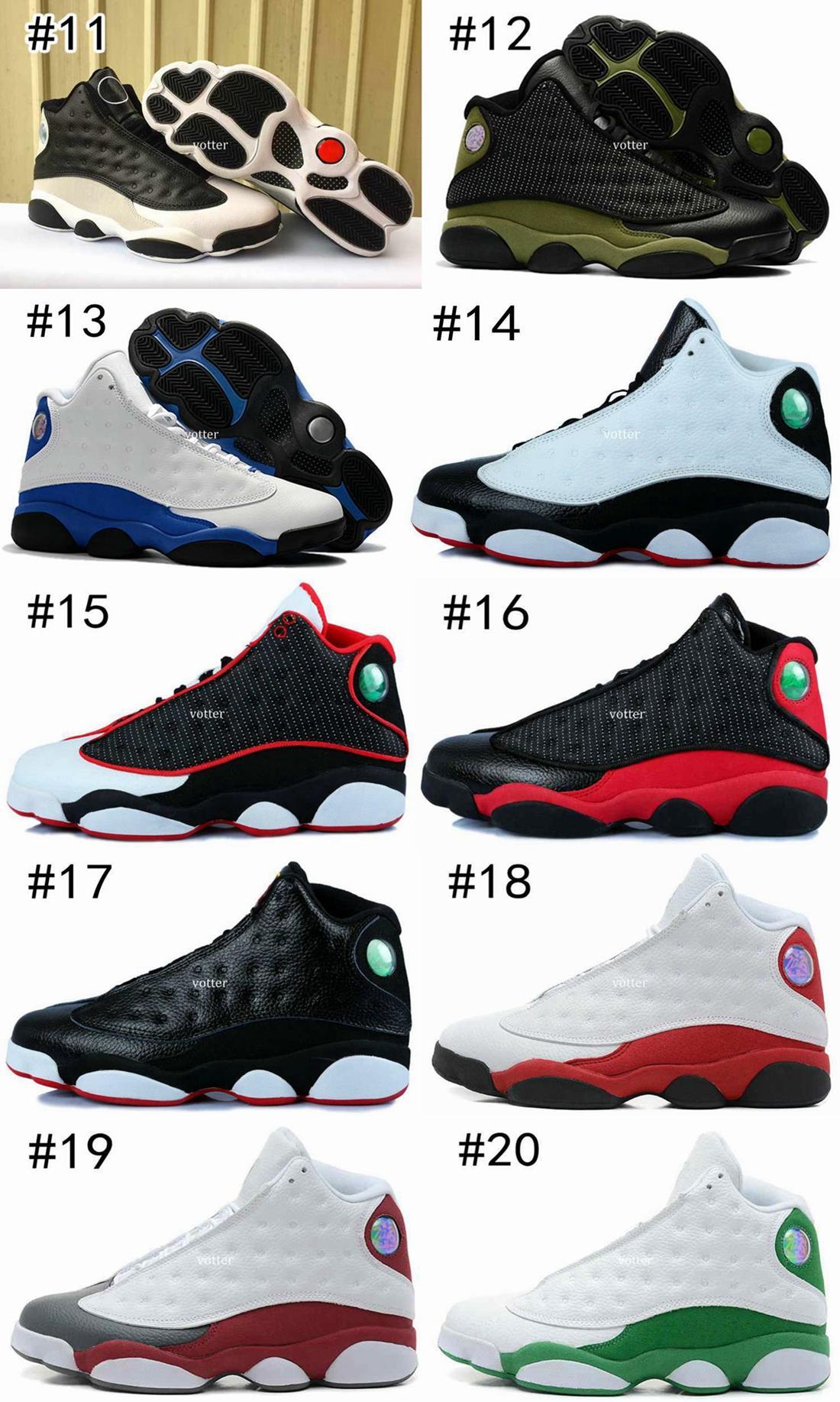 Hommes 13 Blé Olive Green Army Men Chaussures de basket, 13s DMP Black Cat bleu marine Chutney Héritière Vin rouge sport Chaussures de sport Taille 7-13