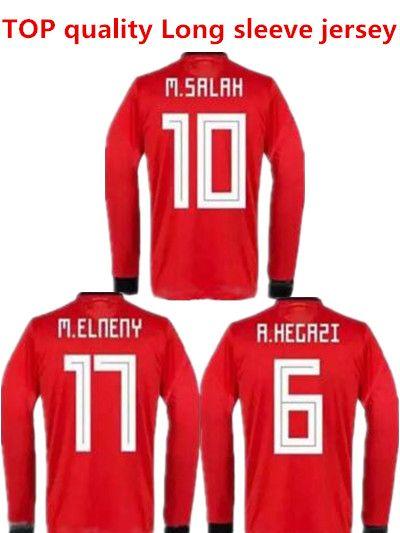 0a2542456 2019 2018 2019 Egypt Long Sleeve Soccer Jersey M. SALAH World Cup Home Red  18 19 KAHRABA A. HEGAZI RAMADAN Uniforms Jerseys Footbal Shirts From  Minghao666