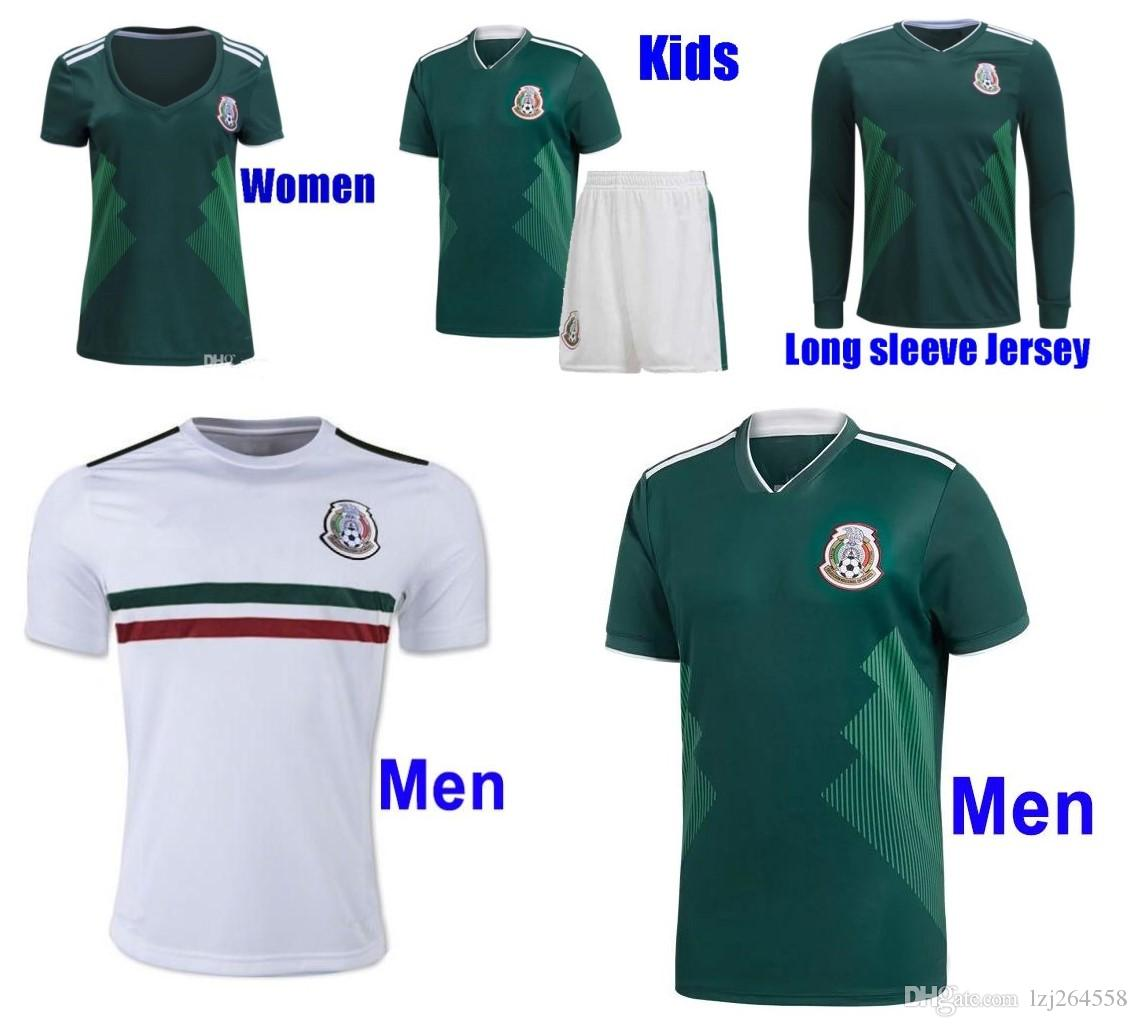 44ede5163 2019 Whosales Camisa Mexico 2018 World Cup Soccer Jersey,Mexico Long Sleeve  Jerseys 2017 CHICHARITO G DOS SANTOS Custom Football Shirt Uniform From ...