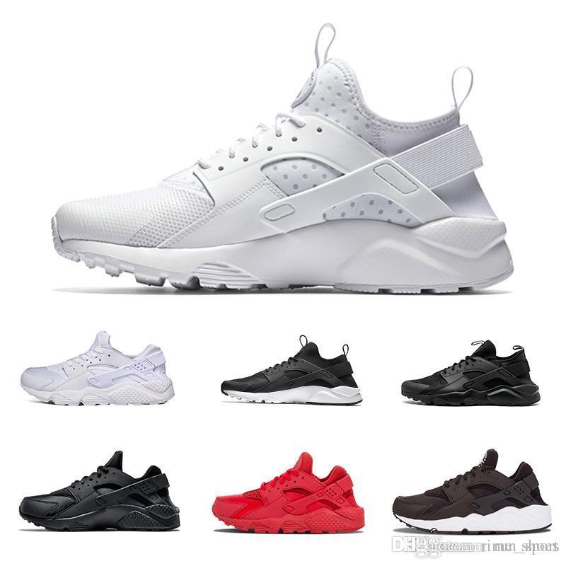 2018 Good Quality Huaraches Men Running Shoes Men Women Authentic Sneaker  Sports Shoes Trainers Triple Black White Red EUR 36-45 New 2018 Air Huarache  ... d9de206de