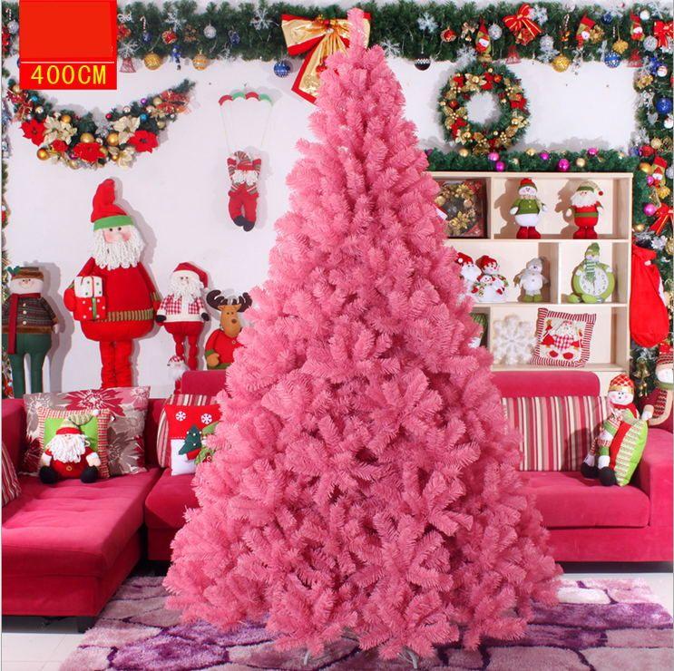 Albero Di Natale 400 Cm.Acquista 60 400 Cm Forniture Di Nozze Rosa Albero Di Natale