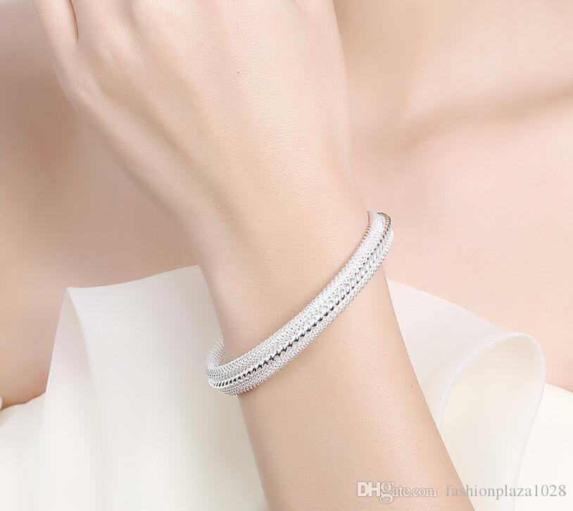 925 Silver New Product Charm Handmade Dazzling Open Adjustable Bangles Antique 925 Silver Bracelets Bangles