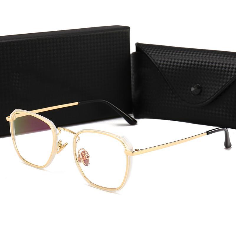 4a1239620 Compre 1718064 New Óculos Óptica Quadro Famoso Designer De Decoração Do Vintage  Óculos De Sol De Luxo De Metal Cheio De Design Quadrado Eyewear Para  Leitura ...