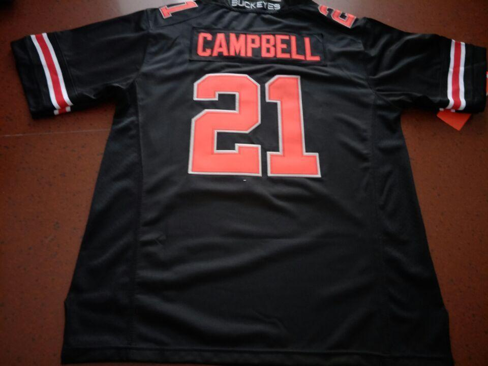 wholesale dealer 67dcf a8a0c Men Ohio State Buckeyes Parris Campbell #21 real Full embroidery College  Jersey Size S-4XL or custom any name or number jersey