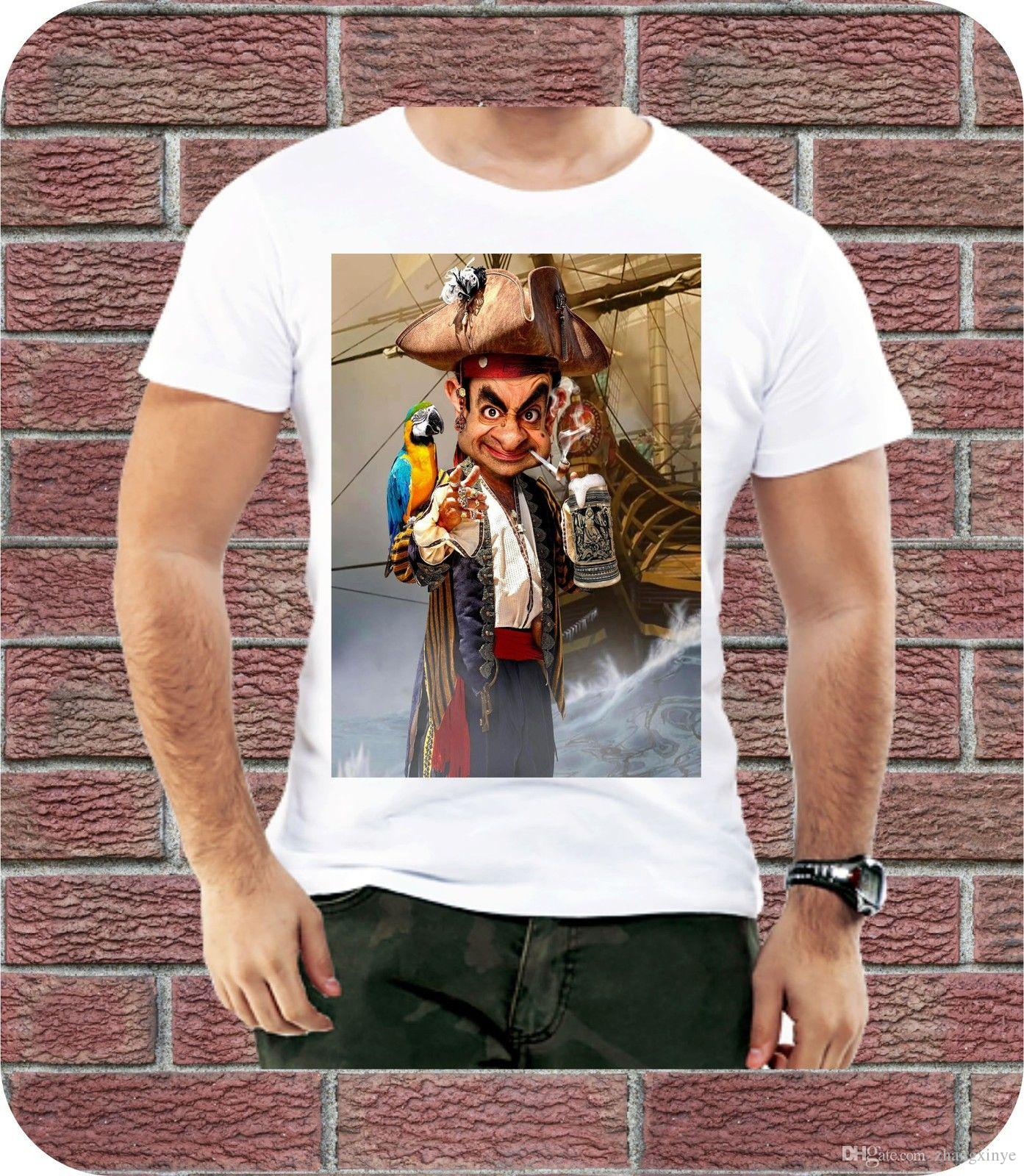 21a498682 Short Sleeves 100% Cotton Pirate Mr Bean Parrot Funny Design Men T Shirt  Casual Trendy Gift Christmas Trendy Mens T Shirts T Shirt Best From  Zhangxinye, ...