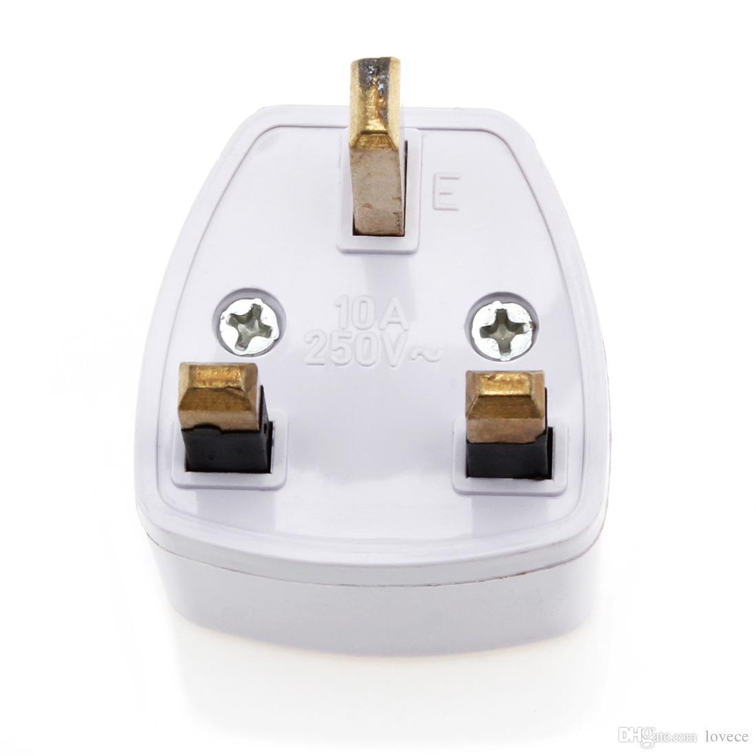 Adaptador de plugue de viagem para o Reino Unido EUA 2 Pin Plug para o Reino Unido 3 Pin Plug CHA_032