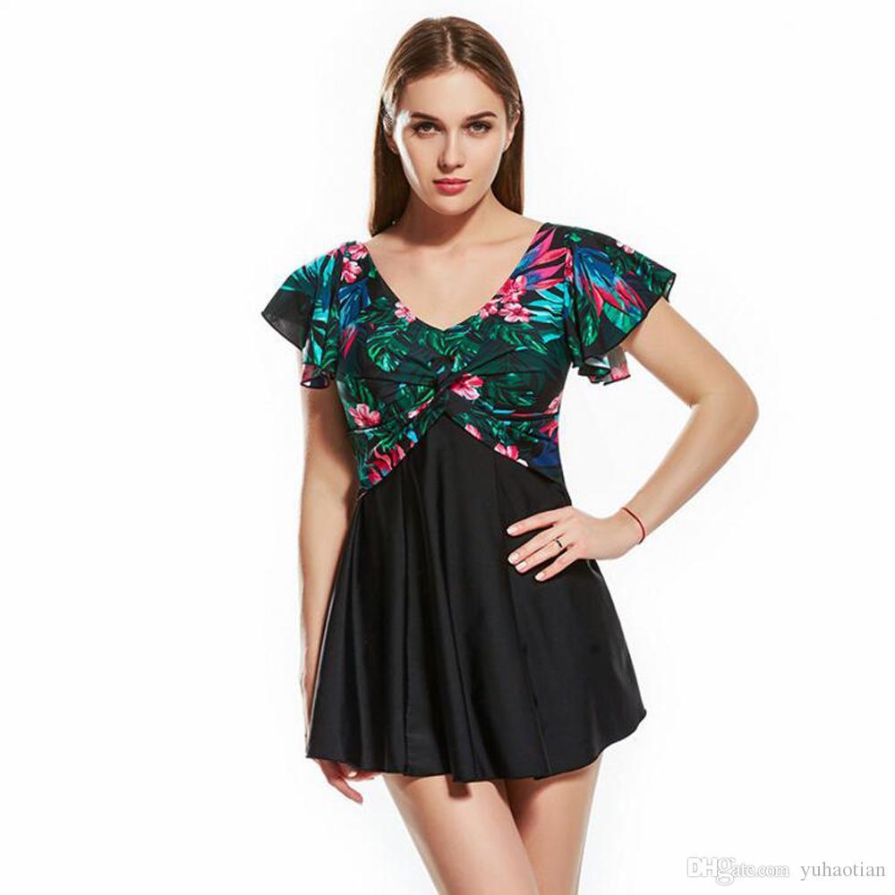fc219c8636 New Women Swimear High Quality Sleeve Skirt Sexy Conservative Spa ...