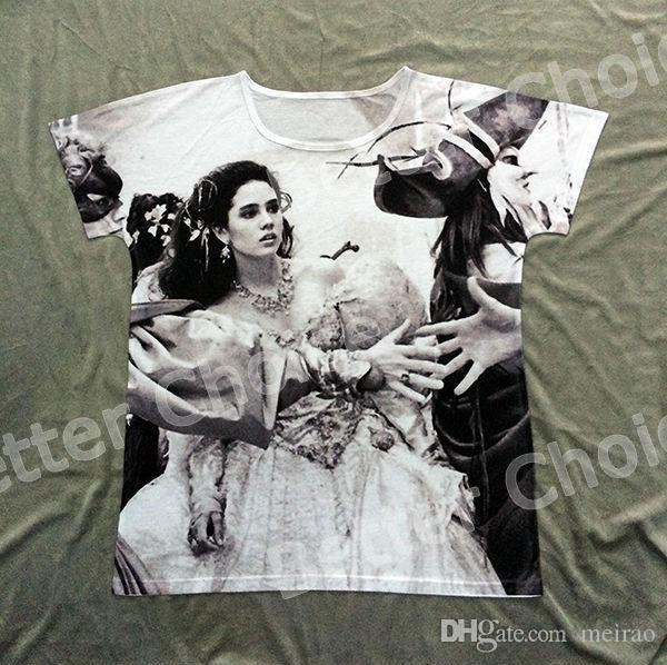 974d0197042 Wholesale Track Ship+New Summer Fresh Hot T Shirt Top Tee Movie Labyrinth  Jennifer Connelly Dancing Party Masque Ball 0644 Buy Funky T Shirts Online  Ot ...