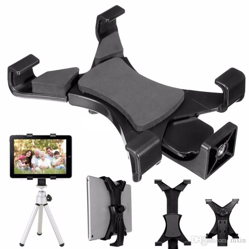 """Universal Tablet Stand Tripod Mount Holder Bracket Clip For 7""""~10.1"""" Tablet GPS iPad Samsung Cell Phone Clamp With 1/4""""Thread Adapter"""