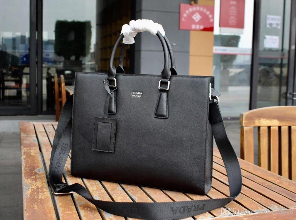 e97b675e85ff Luxury brand women's design masters first layer leather wallet British  style men's hand bag briefcase computer bag