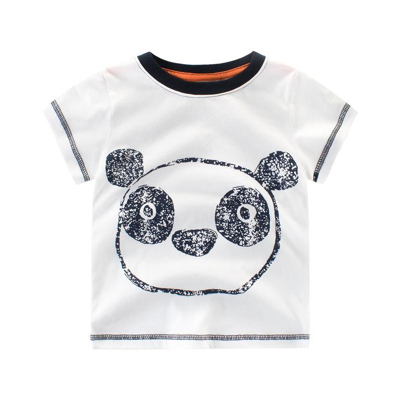 64472c61e Compre Ropa De Niños Bebé De Dibujos Animados Panda Niños Camisetas 2018  Venta Caliente Niños De Verano Camisetas Para Niños Ropa De Algodón Casual  Niños ...