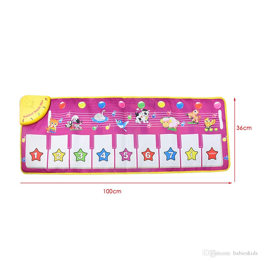 New Creative Baby Touch Play Keyboard Musical Toys Music Carpet Mat Blanket Early Education Tool Toys Two Version Learning Toys