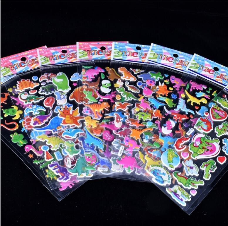 More design 3D Cartoon stickers 7*17cm party Decorative book Stickers paper game Children gift toys