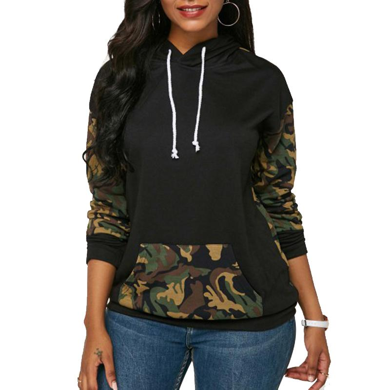 93e408ed0 Christmas Winter Pullover Sweatshirts Women Camouflage Printed ...