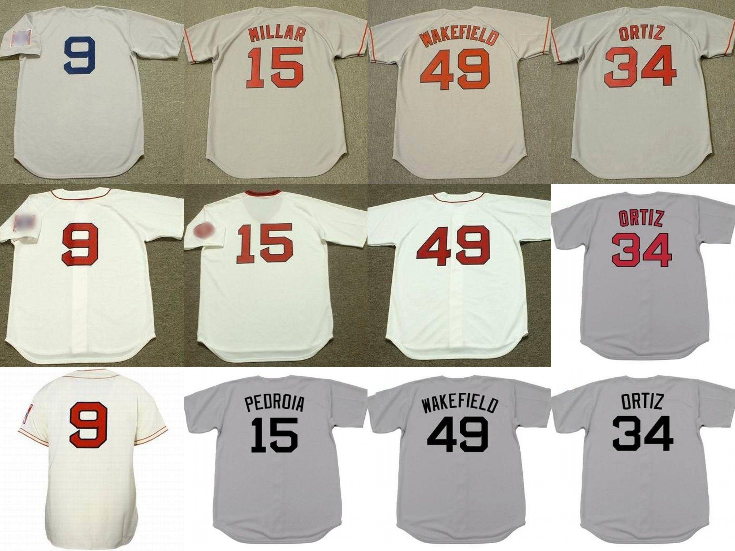 1f6e78f52 2018 Men Women Youth 15 Dustin Pedroia 9 Ted Williams 49 Tim Wakefield  Boston Baseball Jersey From B2bcn