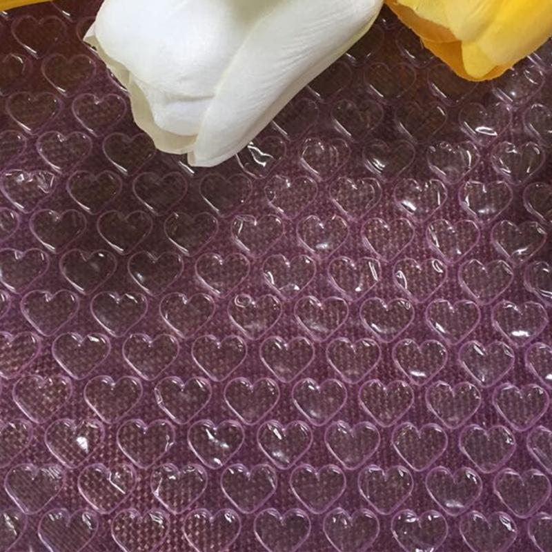 20cmx5m Vert En Forme De Coeur Mini Bulles À Air Bulles Faveurs Et Cadeaux Emballage Rouleau De Mousse Décoration De Mariage Emballage Bulle Chaîne