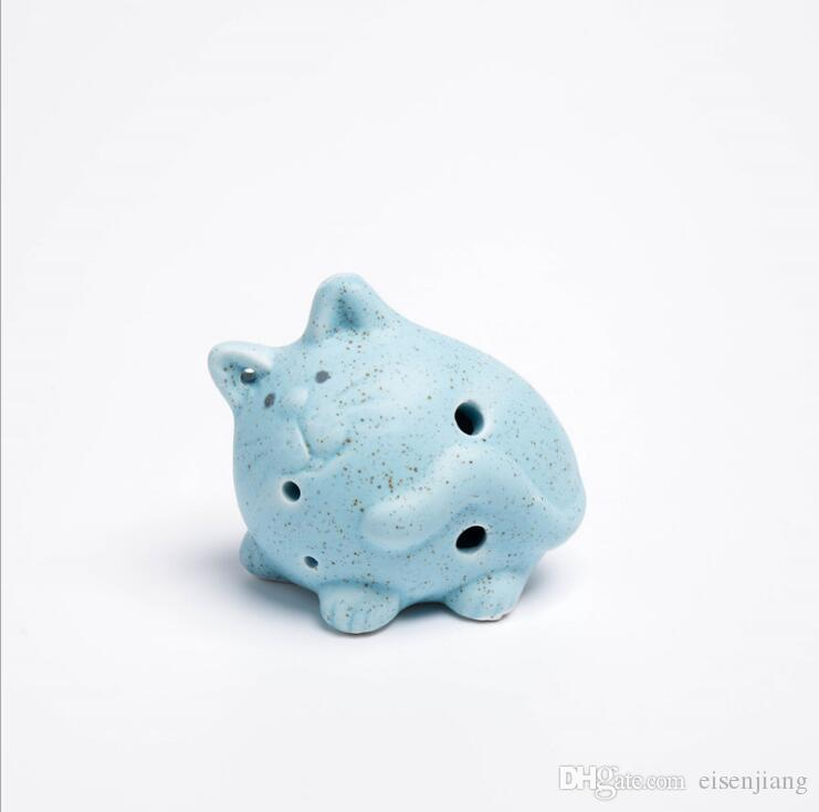 6 hole Ocarina Chinese characteristics Cute cat modeling Children's toys National musical instrument