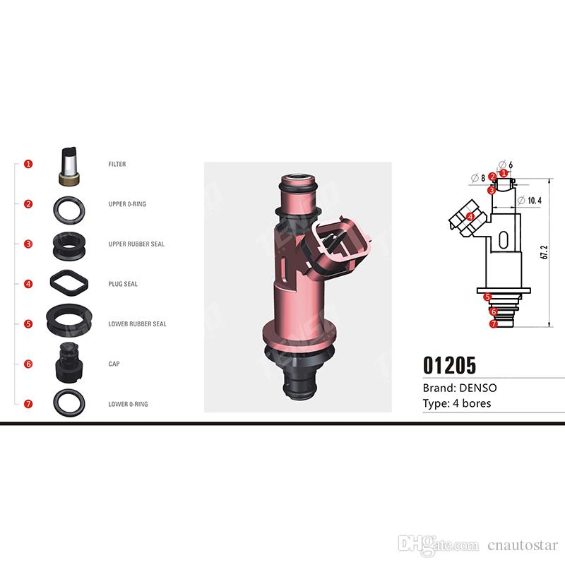 Free shipping!!100sets/box KEIHIN TOP FEED MPI Fuel Injector Repair Kits  For Denso fuel injector service kit 01205