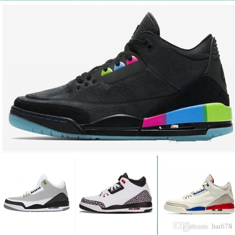 aade6be4762 Mens Basketball Shoes 3s Quai 54 Chlorophyll Tinker Fire Red White Black  Cement Fire Red True Blue Pure White Sports Sneaker Size 7 13 Basketball  Shoes For ...