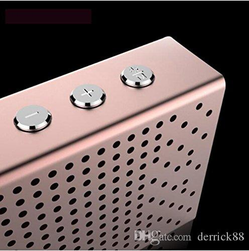 Portable Mini Size Wireless Bluetooth 2.1 Cool Aluminum Alloy Mental Speaker with HD Sound and Heavy Bass Fashionable Luxury Design