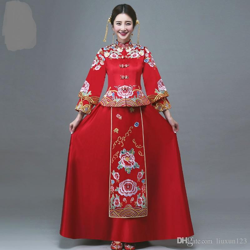 Xiu He Served 2018 New Bride Wedding Dress Costume Dress Red Toast ...