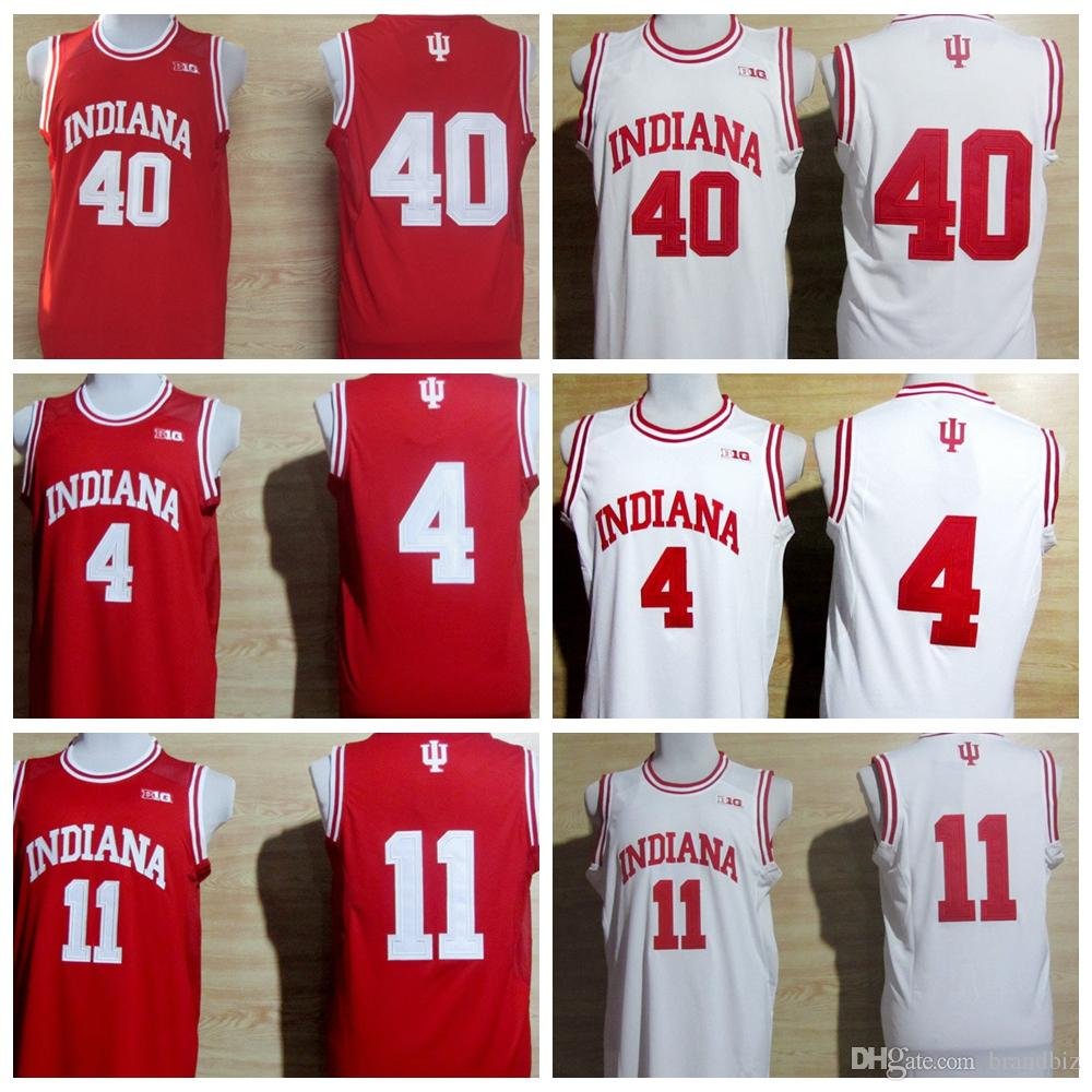 5f9208157df College Basketball Jerseys Indiana Hoosiers 4 Victor Oladipo 11 Isiah  Thomas 40 Cody Zeller Shirt Uniform Rev 30 New Material Red White Victor  Oladipo ...