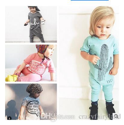 e3fa45d38dc2a Baby Boy Romper Girls Jumpsuit Kids Clothes Summer Newborn Cotton Baby Body  Suit Letter Short Sleeve Babies Clothes DHL Free Shipping