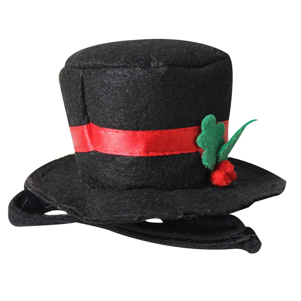 Christmas Top Hat.Pet Dog Top Hat Cute Gentlemanlike Nontoxic Durable Cosplay Hat Costume For Christmas Party Halloween Holiday