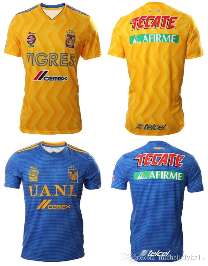 2019 18 19 Tigres UANL Soccer Jerseys 2018 2019 UANL GIGNAC Vargas SOSA Football  Shirts Mexico Club Tigres Football Jersey Maillot De Foot From ... eec28898a