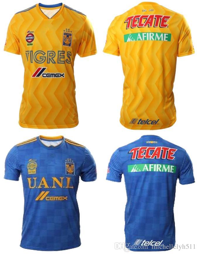 f125d1cfddd 2019 18 19 Tigres UANL Soccer Jerseys 2018 2019 UANL GIGNAC Vargas SOSA Football  Shirts Mexico Club Tigres Football Jersey Maillot De Foot From ...