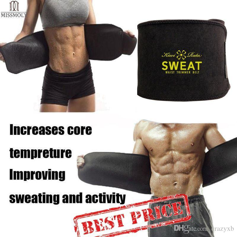 2b8f7c9ee9 Premium Waist Trainer   Trimmer Sweat Belt For Men   Women Fitness Shapewear  Wrap Tummy Stomach Weight Loss Fat Burner Slimming UK 2019 From Crazyxb
