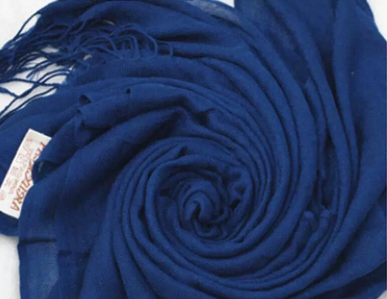 free DHL wholesale Pashmina Cashmere Silk Solid Shawl Wrap Unisex Scarf Women's Scarf Pure Scarf