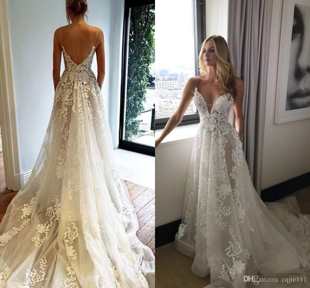 Couture Designer Wedding Gowns: Discount Pallas Couture 2018 Elegant Detail Lace Wedding