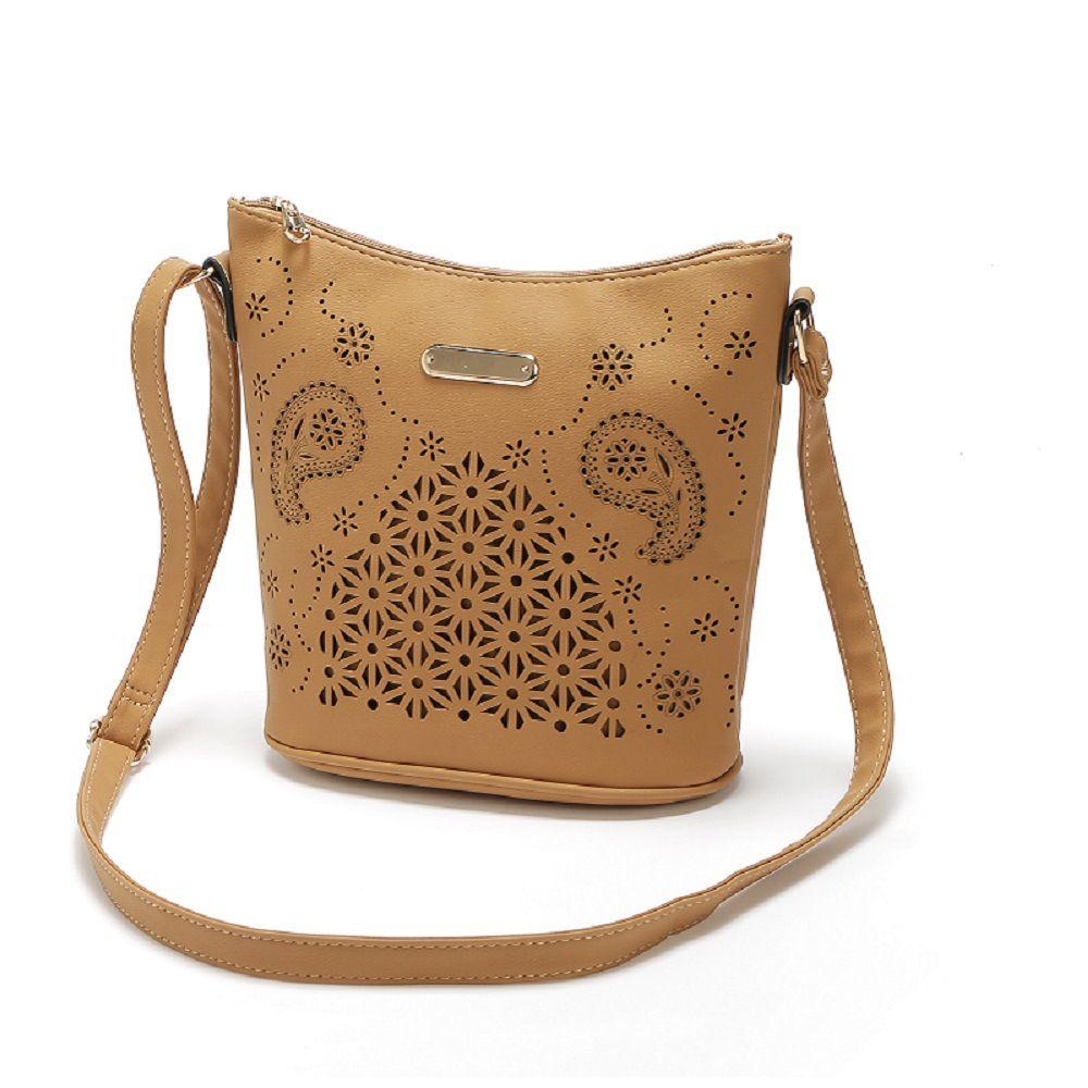 La nuova borsa a tracolla del corpo della traversa scavata signora di stile delle donne poco costose all ingrosso del sacchetto di cuoio delle borse a