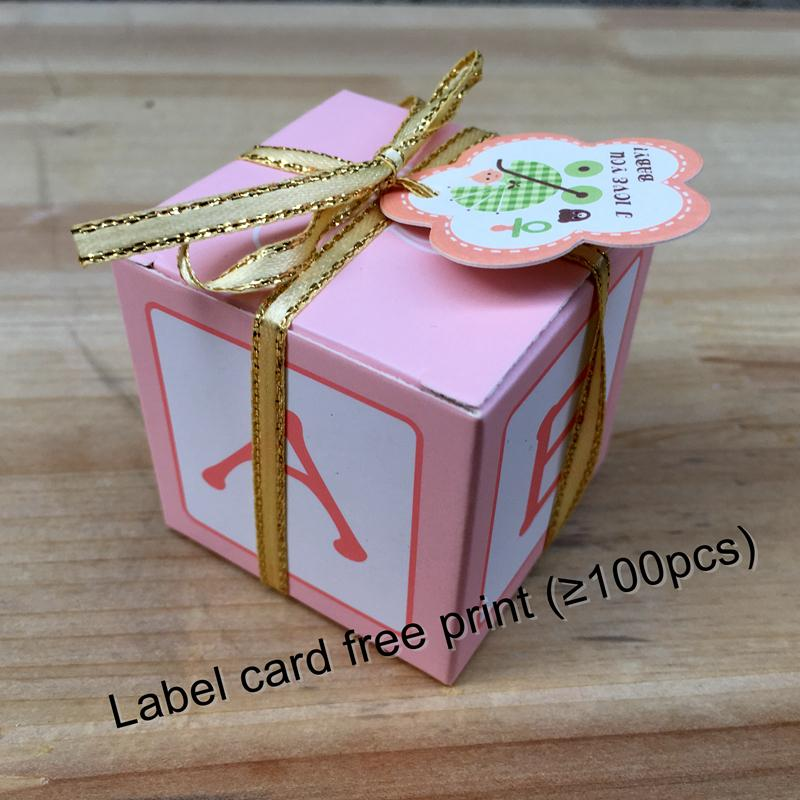 2019 Fast Delivery Baby Shower Favor Candy Box Baptism Christening Birthday Gift Party Decoration With Ribbon From Pittcue 459