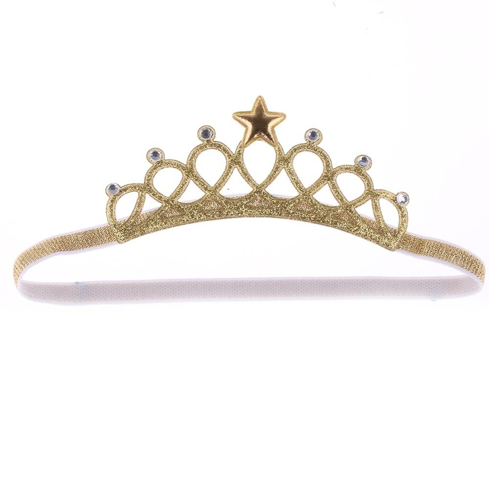 Birthday Christmas Gift Girls Princess Headbands Headwear Kids Hair Star  Accessories Gold Silver Crown Glitter Cute Hair Accessories Online Silk  Flower Hair ... 8fb96b88e5d